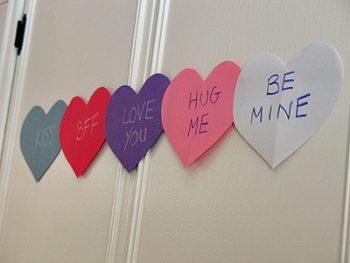 Conversation Heart Banner