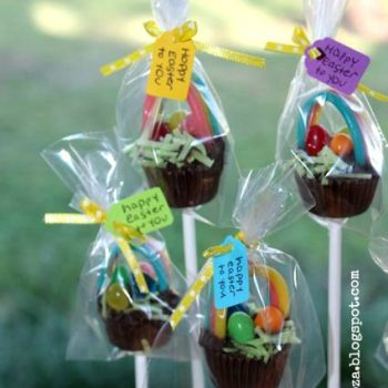 Mini Reese's Cup Easter Baskets