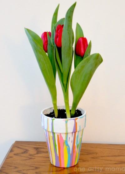 Paint Drip Flowerpot