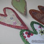 Paper Glitter Hearts