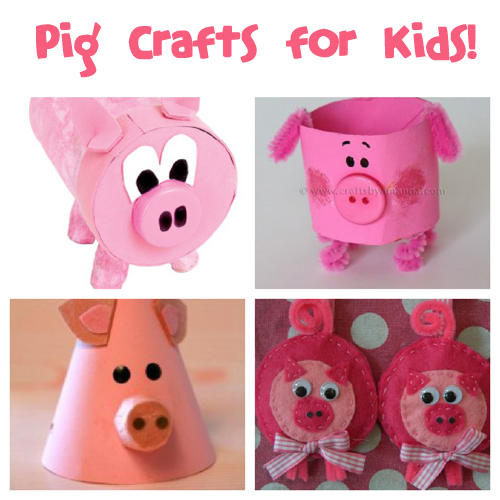 March 1st is National Pig Day! Make fun pig crafts with the kids to celebrate :) @funfamilycrafts #kidscrafts