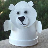 Styrofoam Cup Polar Bear