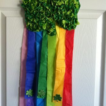 Shamrock Rainbow Wall Hanging