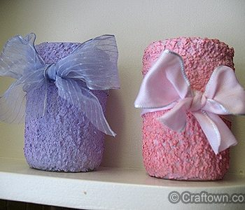 Textured Valentine Jars