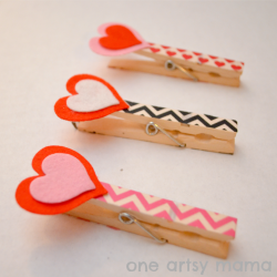 Clothespin Heart Clips