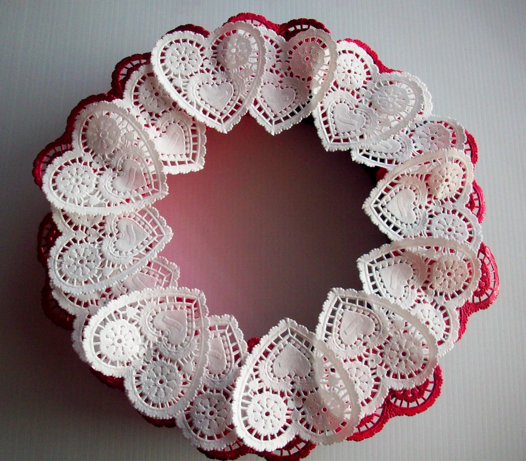 Sweetheart Doily Wreath