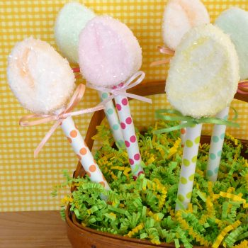 Sugared Egg Marshmallow Pops