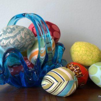 Scrap Fabric Easter Eggs