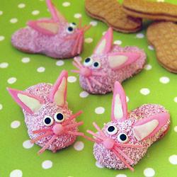 Fuzzy Pink Bunny Slipper Cookies