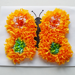 Puffy Tissue Paper Butterfly