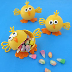 Candy Filled Easter Chicks