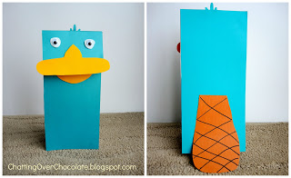 Perry the Platypus Puppet