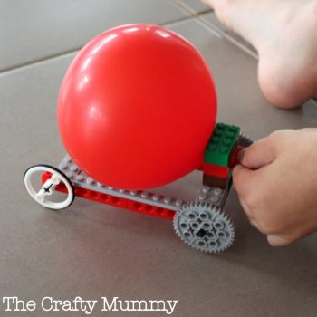 Balloon Propelled Lego Car