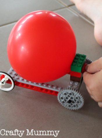 Balloon Propelled Lego Car