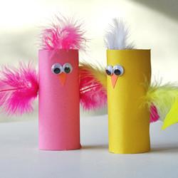 Cardboard Tube Birds