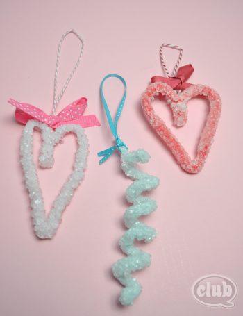 Borax Crystal Hearts
