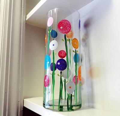 Spring Poppy Flower Vase Fun Family Crafts