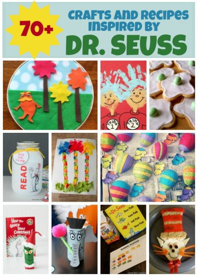 Dr Seuss crafts and recipes for kids