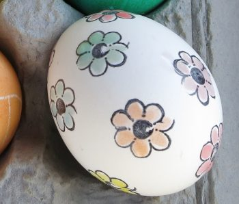 Stamped and Painted Easter Eggs