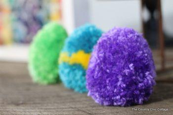 Pom Pom Easter Eggs