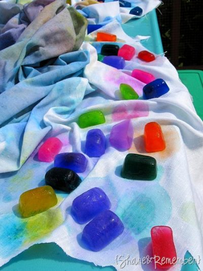 Ice Cube Rainbow Painting
