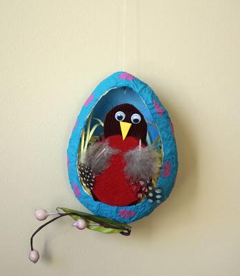 Paper Mache Robin Eggs