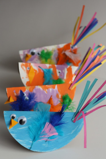 paper plate birds fun family crafts