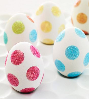 Polka Dot Glitter Eggs
