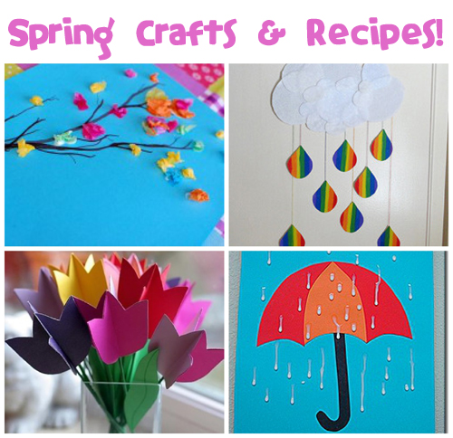 Spring Crafts And Recipes Fun Family Crafts