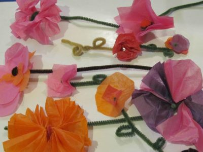 Spring tissue paper flowers fun family crafts spring tissue paper flowers mightylinksfo