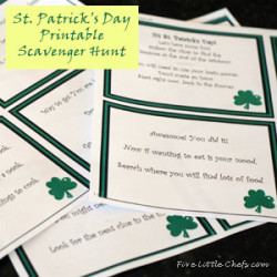 St Patricks Day Scavenger Hunt Printable