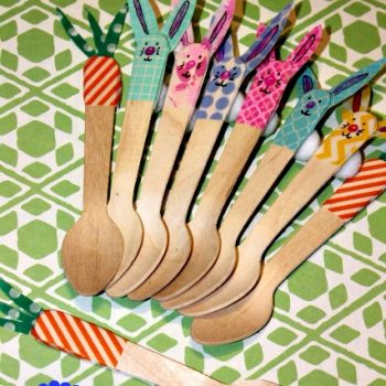Washi Tape Bunny & Carrot Spoons