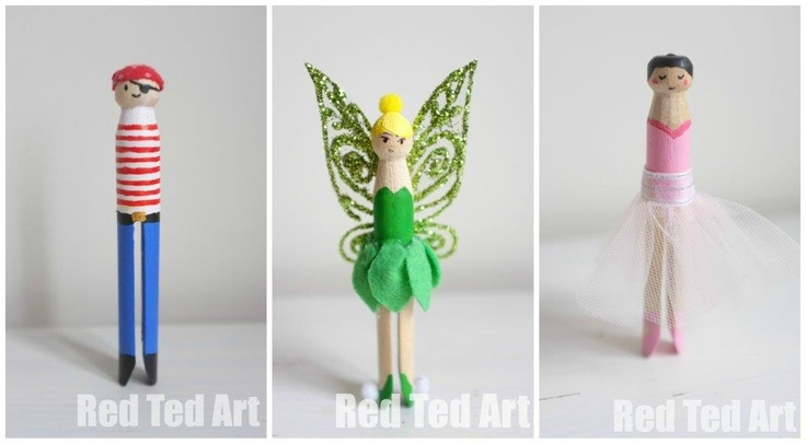 Tinkerbell Clothes Peg Fun Family Crafts
