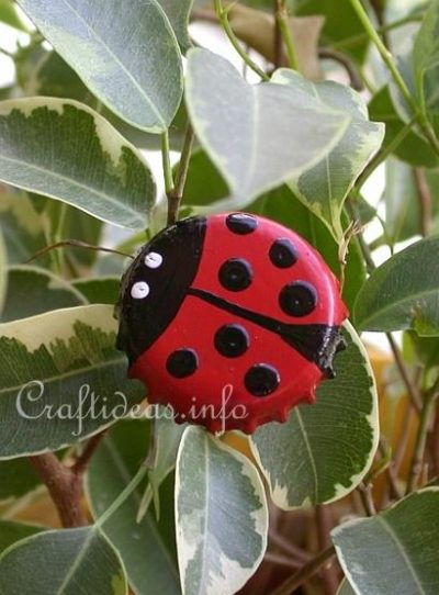 Bottle Cap Lady Bug