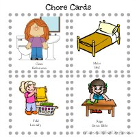 Printable Kid's Chore Cards