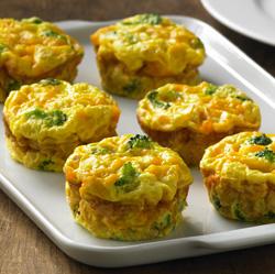 Crustless Veggie Mini Quiches