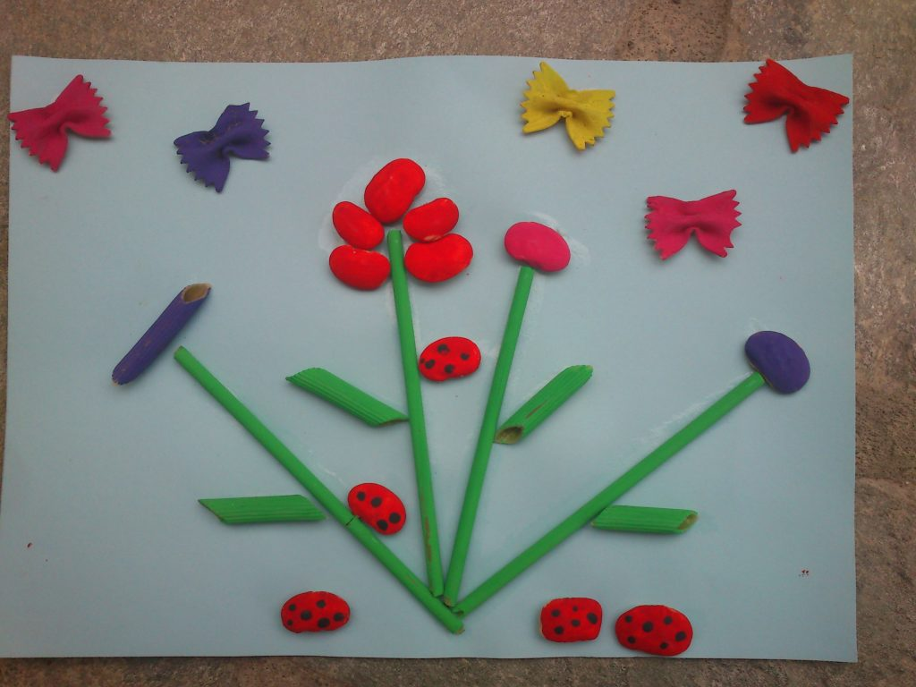 Spring Art With Pasta And Beans Fun Family Crafts