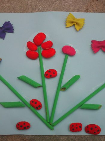 Spring Art with Pasta and Beans