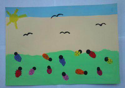 Thumbprint Ladybugs