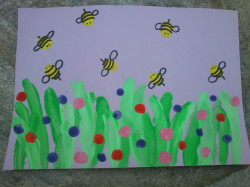 Thumbprint Bees & Flowers