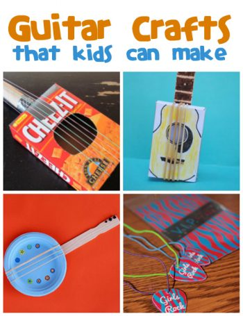 Guitar Crafts for Kids from @funfamilycrafts
