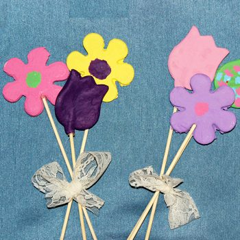 Salt Dough Flowers