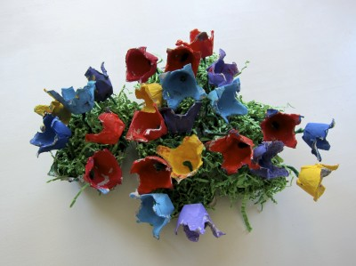Egg Carton Flower Garden
