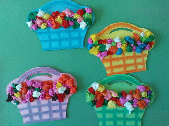Flowers archives fun family crafts tissue paper flower baskets mightylinksfo