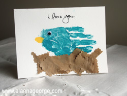 Handprint Bird Card