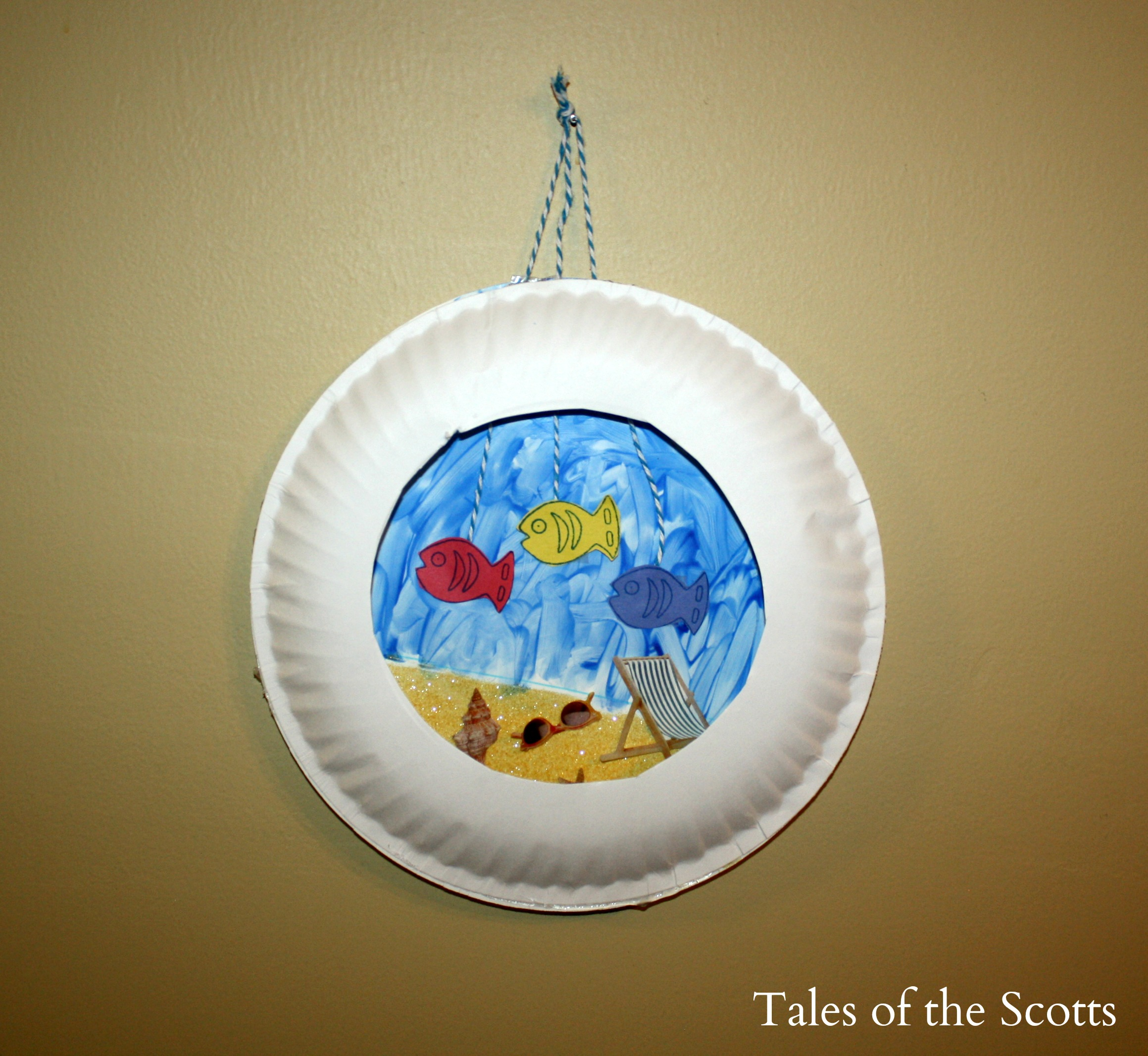 Paper plate aquarium fun family crafts for Paper plate craft images