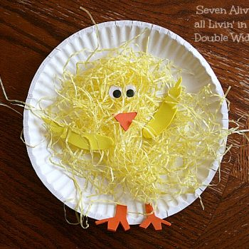 Paper Plate Spring Chickens