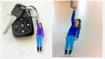Shrink Plastic Keychain