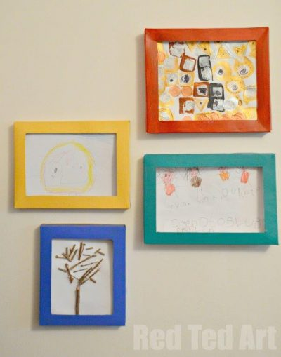 Cereal Box Picture Frames