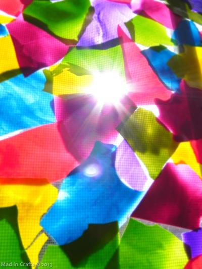 Mod Podge Window Mosaic